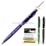 Dual action laser pointer and flashlight pen