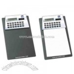 Dual power 8 digit calculator clipboard