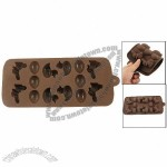 Duck Shaped Chocolate Color Ice Cube Tray Cupcake Pan Mold
