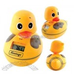 Duckie with built-in AM/FM radio and digital thermometer