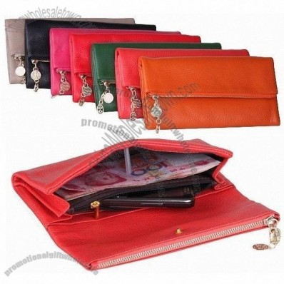 Dumpling Shape 100% Genuine Leather Wristlet Wallet Bag for Ladies