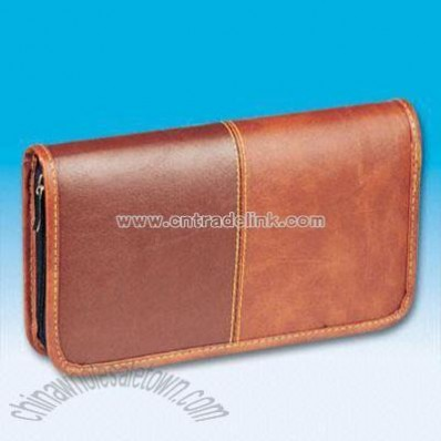 Durable Leather CD Bag
