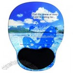 Durable hard surface liquid mouse pad with two color liquid and wrist reliever
