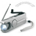 Dynamo portable station LED torch with FM radio