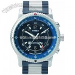 E-Compass Blue Stainless Steel Bracelet Watch