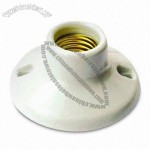 E26/27 Porcelain Lamp Holder with Aluminum Plated Copper Screw Shell