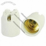 E27 Porcelain Lamp Holders with Aluminum Plated Copper Screw Shell