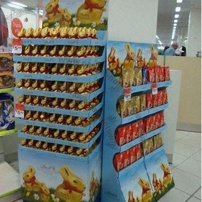 ECO Cardboard Floor Display for Candy in Supermarkets
