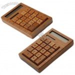 ECO-Friendly Solar Powered Bamboo Calculator 12-Digit