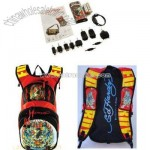 ED HARDY TIGER CROSS SOLAR BACKPACK BAG RED