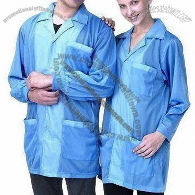 ESD Lab Coats with Dissipative Fabric