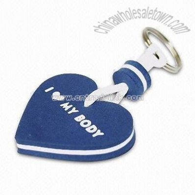 EVA Keychain with Heart Shape Design