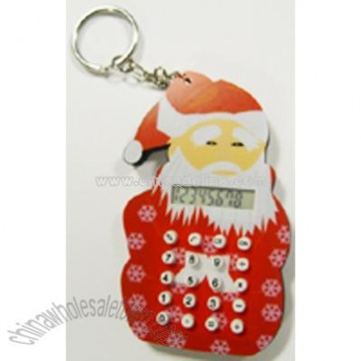 EVA Santa Claus Shape Calculator with Keychain
