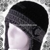 Earflap Beanie with Removable Flower