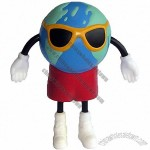 Earth Figure Stress Ball with Sunglasses