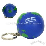 Earth ball Key Chain Stress Ball