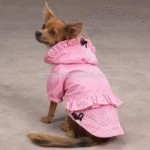 East Side Collection Polka Dots and Ruffles Medium Pink Raincoat