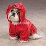 East Side Collection Polka Dots and Ruffles Small Red Raincoat