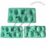 Easter Eggs And Rabbits Silicone Ice Cube Tray Chocolate Mold
