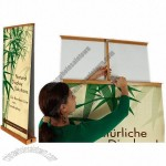 Easy Double Roll Up Bamboo Banner Stand