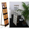Easy Pocket-D Bamboo Brochure Stand
