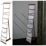 Easy Pocket-S Bamboo Brochure Stand
