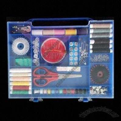 Easy to Carry and Complete Portable Box Shape Sew Kits with Various Threads Suitable for Housework