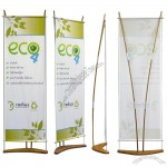 Eco Bamboo Banner Stand