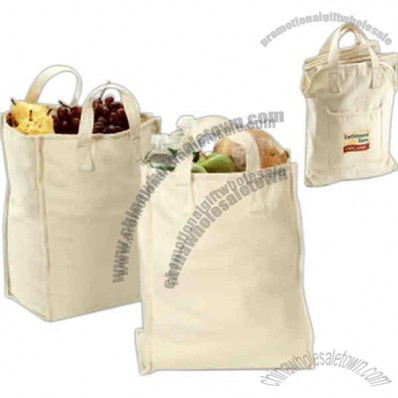 Eco Choice - Organic market bag set with storage tote and two full-size grocery totes