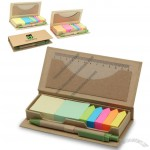 Eco Desktop Sticky Notes Set with Recycled Paper Pen
