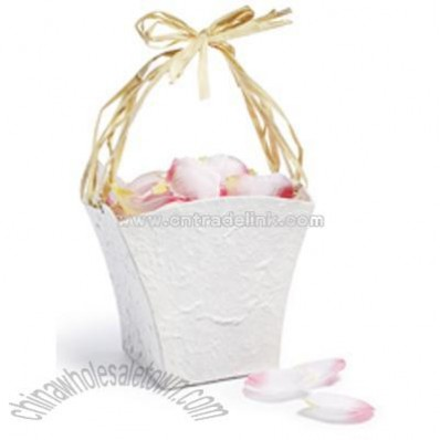 Eco Flower Girl Basket