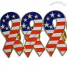 Eco-Friendly Metal Ribbon Badge - Star-Spangled Banner