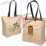 Eco-responsible Snap-it - Jute Tote With Cotton Lining And Snap-button Closure