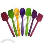 Economic Silicone Kitchen Utensils Set with Non-stick Surface, Easy to Clean