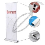 Economy Silver Broad Base Roll Up Banner Stand 33