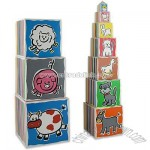 Educational Toy-Wooden Stacking Tower