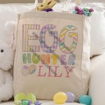 Egg Hunter Easter Personalized Petite Tote Bag