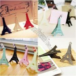 Eiffel Tower Metal Clip, Wedding Place Card Holder