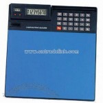 Eight Digits Calculator with Mouse Pad and Digital Clock