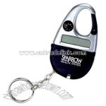 Eight digit Carabiner clip calculator with keychain