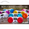 Electronic Contact Lens Case with Blue Backlight