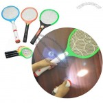 Electronic Mosquito Swatter Rechargeable Electric Flies Out Mosquito Swatter Three Layer Net Surface With Flashlight