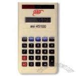 Electronic pocket calculator with auto power off and raised keys