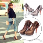 Elegance Outside Waterproof Cake Skirt High Heels Shoe