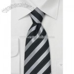 Elegant Mens Tie in Silver and Black