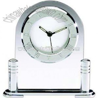 Elegant arched top glass desk clock
