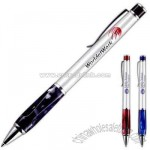 Elegant designed twist action ballpoint pen with resin grip