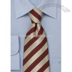 Elegant striped neckties Gold and red striped tie