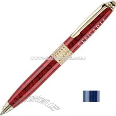 Elegant twist action ball point pen