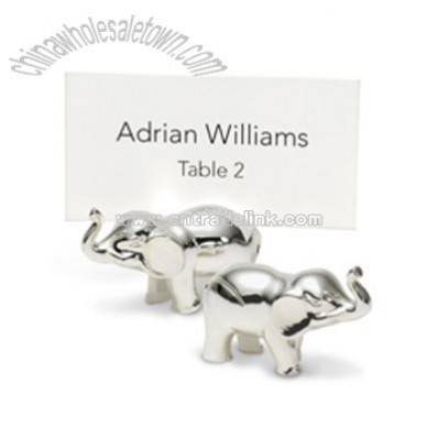 Elephant Place Card Holders - Silver-plated